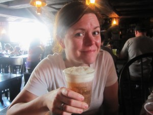 Loved the Butterbeer...it was like a butterscotch cream soda