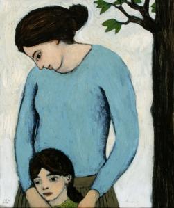 Mother and Child - Brian Kershisnik