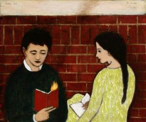 Burning Book - Brian Kershisnik
