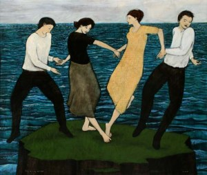 Dancing on a Very Small Island - Brian Kershisnik