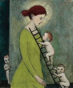 Climbing Mother - Brian Kershisnik