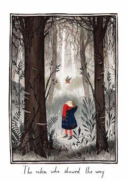 Illustration by Julia Sarda for The Secret Garden http://juliasarda.blogspot.com/2014/06/the-secret-garden.html