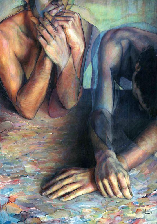 Saatchi Online Artist: David Agenjo; Acrylic Painting