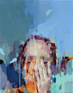 When Silence Happens in the Marketplace by Melinda Matyas https://www.saatchiart.com/art/Painting-When-Silence-happens-in-the-Marketplace/174804/1953083/view